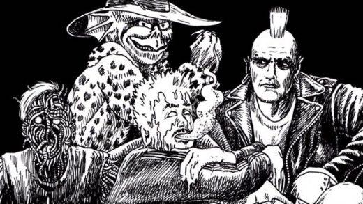 Колдун и мастер кунг-фу против монстра Мрази и панков в русском комиксе «Некрополис»