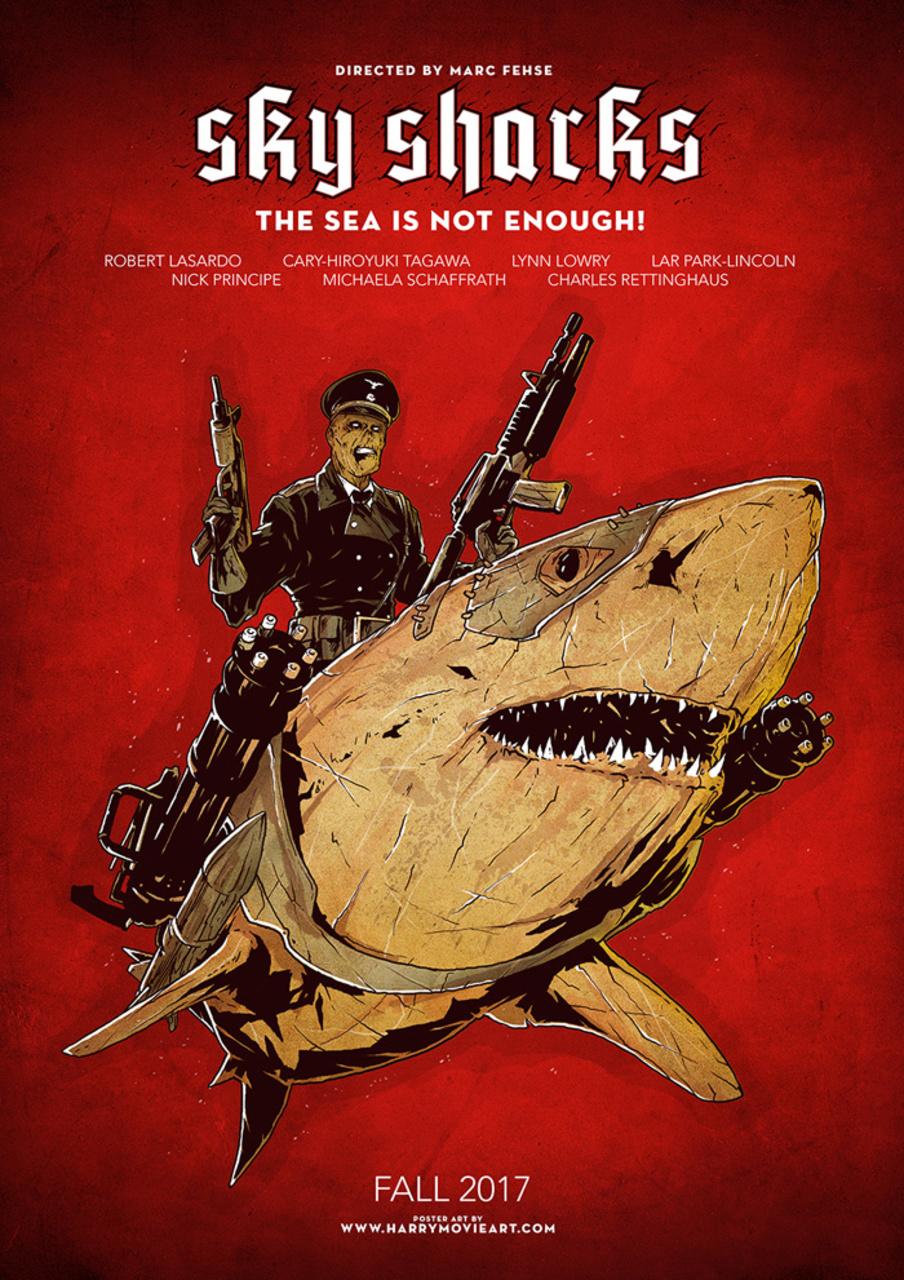 небесные акулы постер