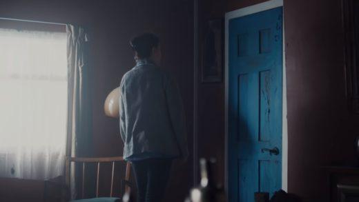 синяя дверь
