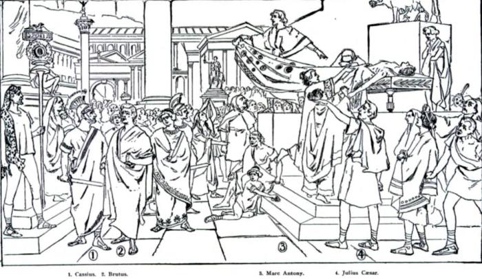 The Assassination of Julius Caesar 1905 Eden Musee