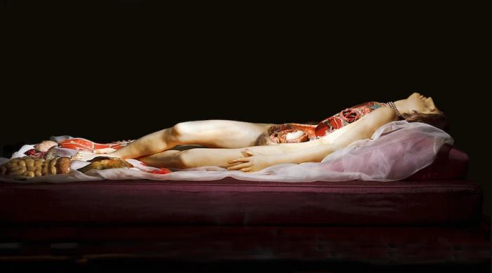 Анатомический театр - восковая фигура